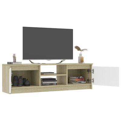 vidaXL TV-bänk vit och sonoma ek 120x30x35,5 cm spånskiva