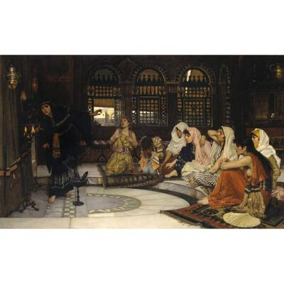 Consulting the Oracle,John William Waterhouse,60x40cm