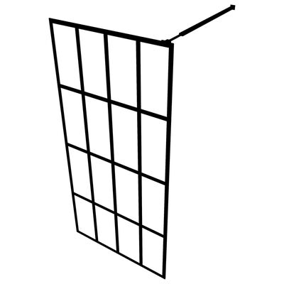 vidaXL Duschvägg till duschkabin härdat glas 80x195 cm