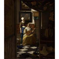 The Love Letter kgu,Johannes Vermeer,44x38.5cm