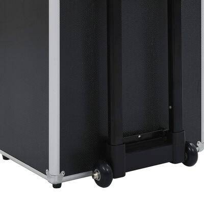vidaXL Sminklåda aluminium svart