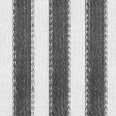 vidaXL Rullgardin utomhus 300x140 cm antracit och vita ränder,