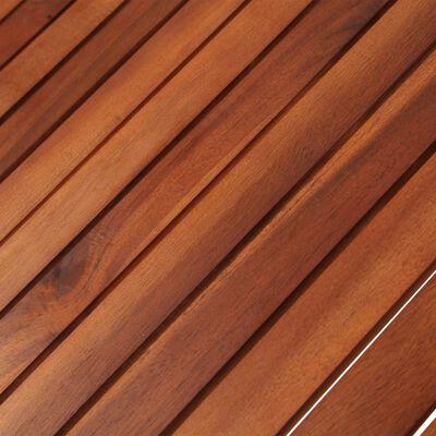 vidaXL Trädgårdsbord 160x85x74 cm massivt akaciaträ oval