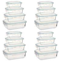 vidaXL Matlådor i glas 16 stycken