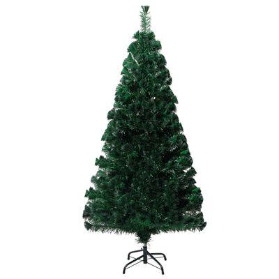 vidaXL Plastgran med fot grön 120 cm fiberoptik