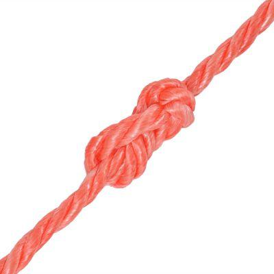 vidaXL Tvinnat rep i polypropylen 10 mm 250 m orange