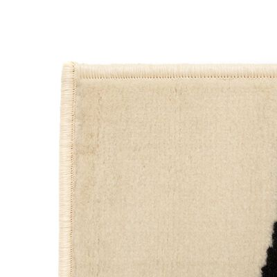 vidaXL Modern matta zebradesign 120x170 cm beige/svart