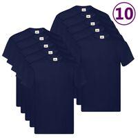 Fruit of the Loom Original T-shirt 10-pack marinblå stl. 5XL bomull
