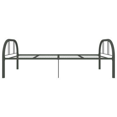 vidaXL Sängram grå metall 90x200 cm