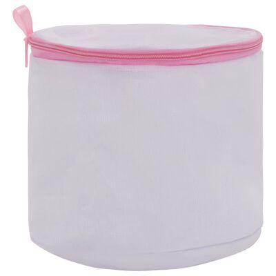 vidaXL Tvättpåsar 3 st vit och rosa