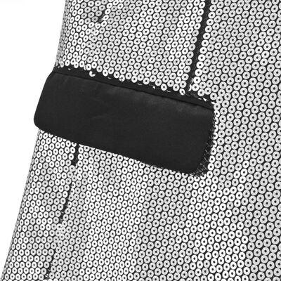 vidaXL Smokingkavaj för herr med silverpaljetter storlek 54