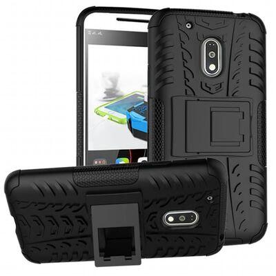 Stöttåligt skal med ställ Motorola Moto G4 Play (XT1604) Svart