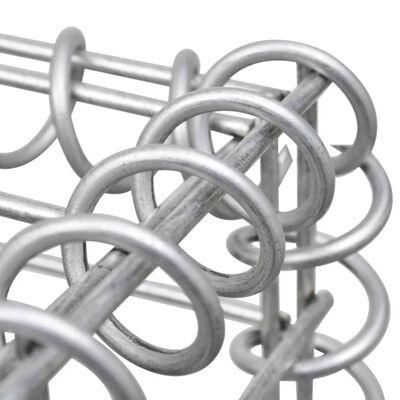 vidaXL Gabionkorg U-formad galvaniserat stål 570x20x100 cm