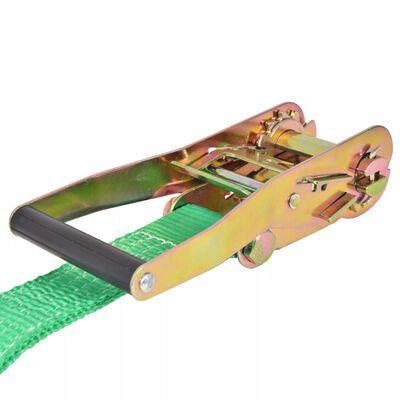 vidaXL Slackline 15 m x 50 mm 150 kg grön