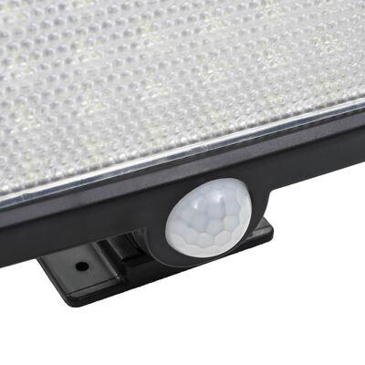 vidaXL Strålkastare soldriven med sensor LED vit