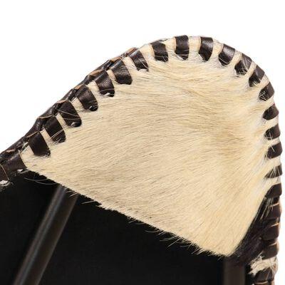 vidaXL Fladdermusfåtölj svart och vit äkta getskinn