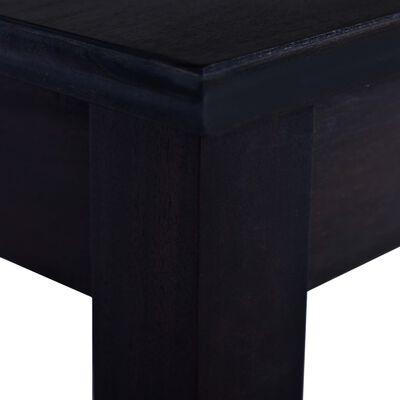vidaXL Avlastningsbord ljussvart 120 cm massiv mahogny