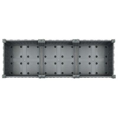 vidaXL Upphöjd odlingslåda 120x40x23 cm polypropen