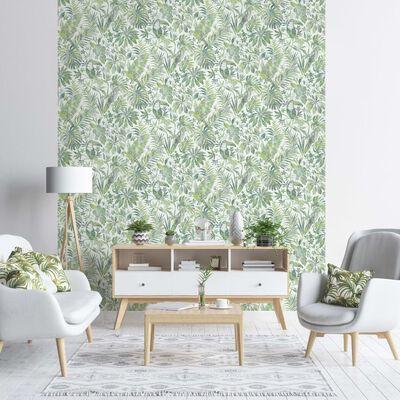 DUTCH WALLCOVERINGS Tapet blad och tukan grön