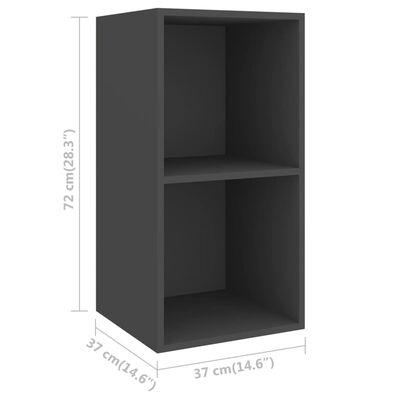 vidaXL Väggmonterade tv-skåp 4 st grå spånskiva