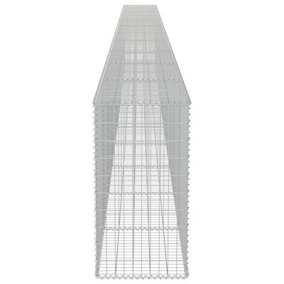 vidaXL Gabionmur i galvaniserat stål 900x50x100 cm