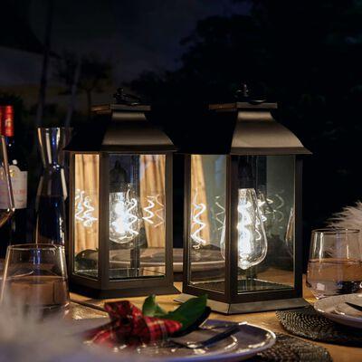 Luxform Batteridriven bordslykta LED Black Lantern T10-lampa