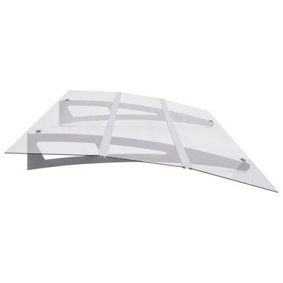 vidaXL Entrétak silver och transparent 150x90 cm polykarbonat