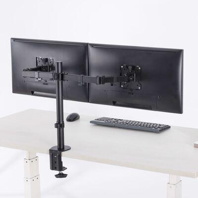 """NewStar Bordsfäste för dubbla skärmar 10""""-32"""" justerbar 4-46 cm svart"""