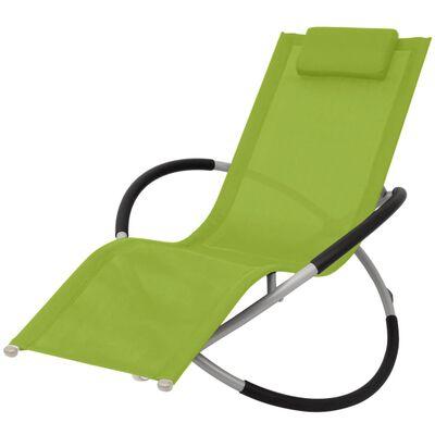 vidaXL Geometrisk solsäng stål grön