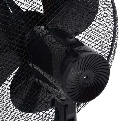 vidaXL Golvfläkt Φ40 cm 120 cm svart