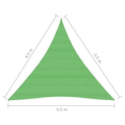 vidaXL Solsegel 160 g/m² ljusgrön 4,5x4,5x4,5 m HDPE