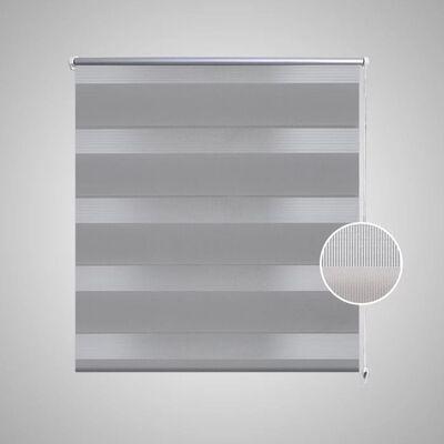 Rullgardin randig grå 40 x 100 cm transparent