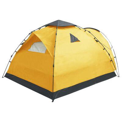 vidaXL Pop-up campingtält 3 personer gul