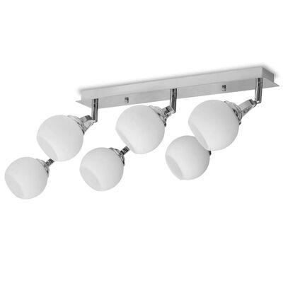 vidaXL Taklampa med 6 LED-glödlampor G9 240 W