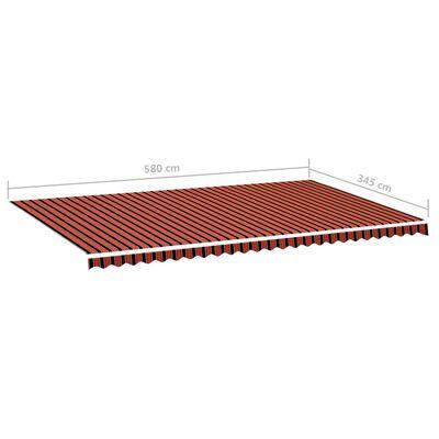 vidaXL Markisväv orange och brun 6x3,5 m