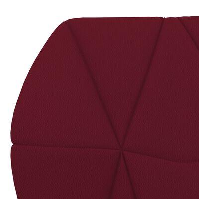 vidaXL Matstolar 6 st vinröd konstläder