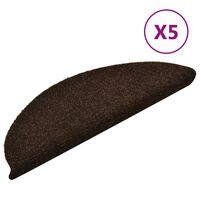 vidaXL Trappstegsmattor självhäftande 5 st brun 56x17x3 cm brodyr