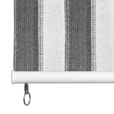 vidaXL Rullgardin utomhus 220x230 cm antracit och vita ränder