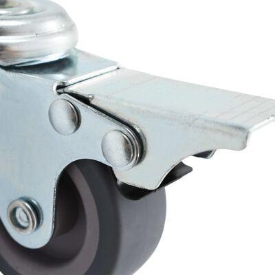 vidaXL Länkhjul med bulthål 24 st 50 mm