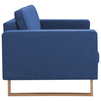 vidaXL 2-sitssoffa tyg blå