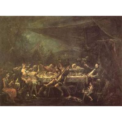 THe Gypsies'Wedding Feast,MAGNASCO Alessandro,50x40cm