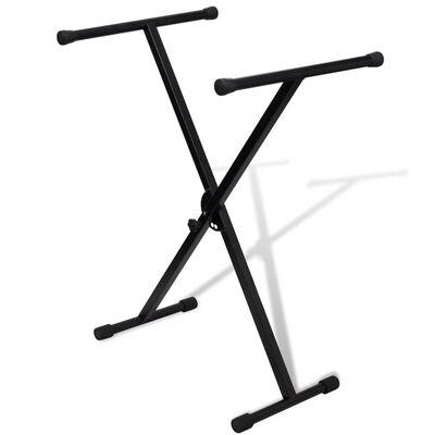 Keyboardstativ svart vikbart justerbart 60kg