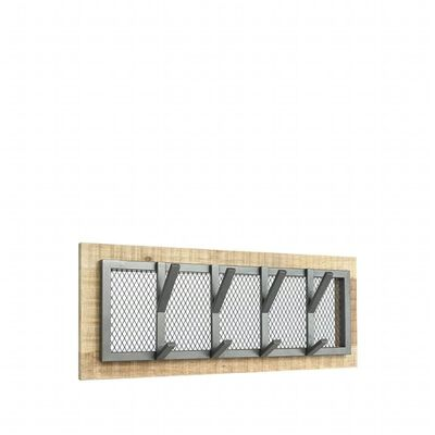 LABEL51 Krokhängare Crude 75x11x30 cm M grå