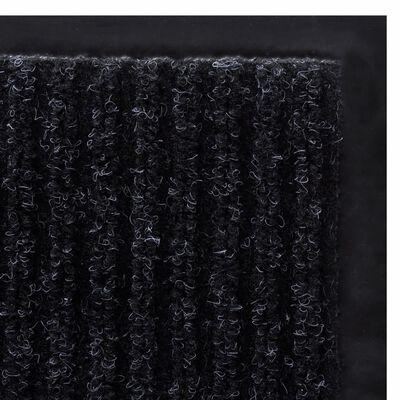 vidaXL Dörrmatta svart 160x220 cm PVC