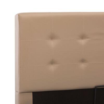 vidaXL Sängram hydraulisk förvaring cappuccino konstläder 100x200 cm