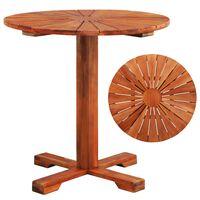vidaXL Cafébord 70x70 cm massivt akaciaträ
