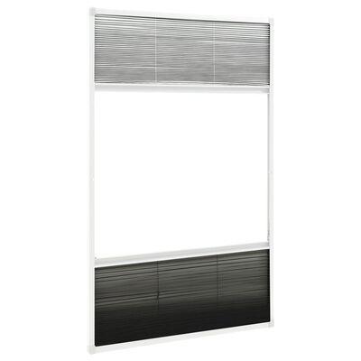 vidaXL Plisserat insektsnät med jalusi för fönster aluminium 60x160 cm
