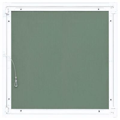 vidaXL Inspektionslucka med aluminiumram och gipsskiva 200x200 mm