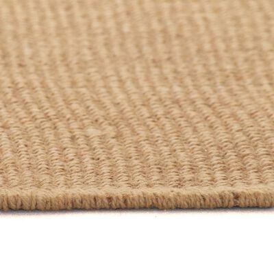 vidaXL Jutematta med latexundersida 160x230 cm naturlig