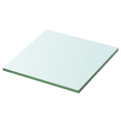 vidaXL Hyllplan glas genomskinlig 30x30 cm